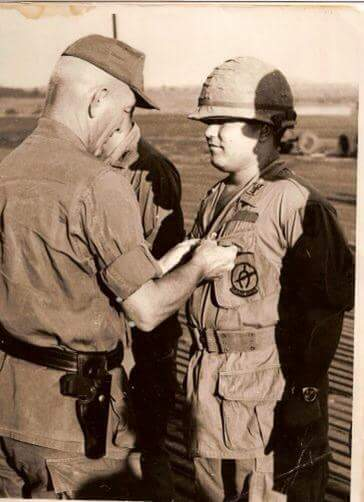 Jose receiving the Distinguished Flying Cross medal