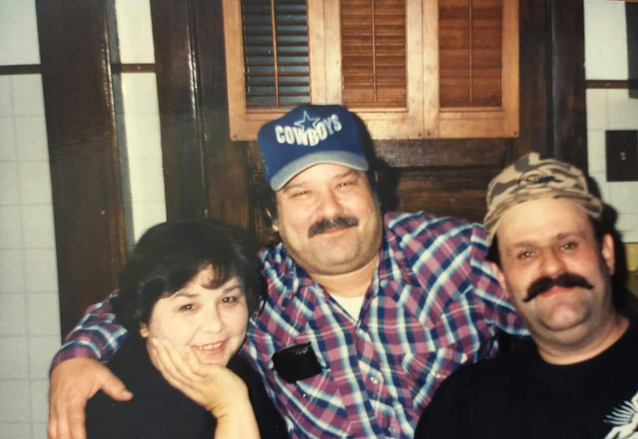 Jose with his sister Ana and Primo Juan 1994