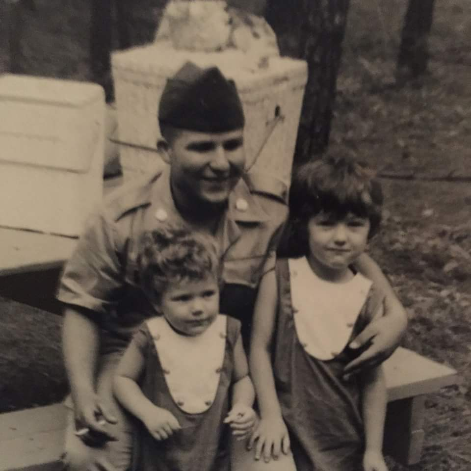 Jose with neices in Louisiana