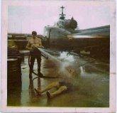 Mike-Watts-spraying-Virgil-Payne-VJ-Phan-Rang-1971-by-Mike-Watts